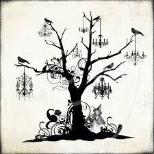 halloween spooky tree silhouette 6 digital halloween spooky trees clipart digital brushes digital
