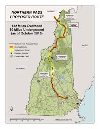 Nh Map Map Of Northern Pass Proposed Route Forest Society