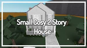 giveaway welcome to bloxburg cosy small 2 story house build