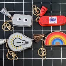 rainbow pendant bags ornament ring mini