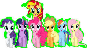 my little pony mane 6 smile parade coloring book mlp