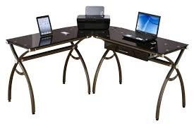 Glass Top Computer Desks For Home Techni Mobili Glass Top Computer Desk Clear 746 Intended For