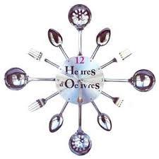 horloge cuisine originale horloge déco heures d oeuvres originale en métal pendule murale de