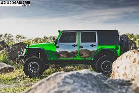 green jeep 2009 jeep wrangler in chrome green phenomenalvinyl