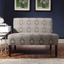 Loveseat Slipcover Furniture Inspirative Blue Damask Armless Loveseat By Inspire Q