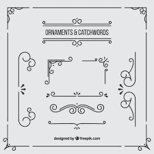 ornaments and borders vector free