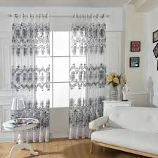 black and white floral window curtains wonderful curtain designs