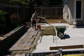 Slope For Paver Patio by Backyard Landscaping Paver Patio Joe U0027s Happy Hour
