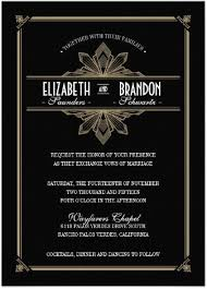 gatsby invitations stylish glam gold black deco invitations