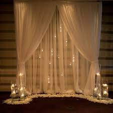 wedding backdrop fairy lights wedding fabric backdrop with fairy lights and floral decoration