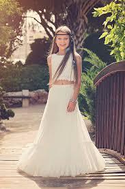 chic dress boho chic flower girl dress junior bridesmaid dress boho