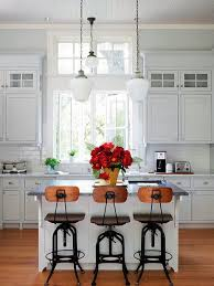 White Breakfast Nook Kitchen And Breakfast Nook With Industrial Pendant Lights