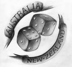 australia new zealand dice tattoo design in 2017 real photo