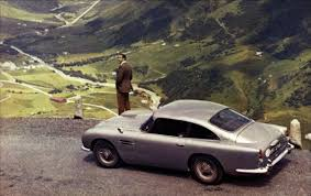 aston martin db5 driven by sean connery as james bond in