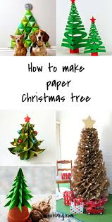 paper xmas tree decorations
