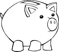 piggy bank coloring book page google twit for piggy bank coloring