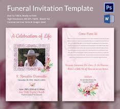 funeral invitation template funeral invitation templates canva
