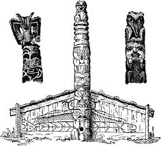 totem pole coloring pages hawaiian tiki coloring pages printable