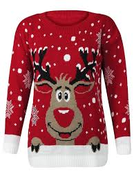 rudolph sweater amazon com forever womens rudolph reindeer print snowflake