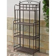Corner Bakers Rack With Storage Tips Decorative Outdoor Bakers Rack For Indoor And Outdoor Use