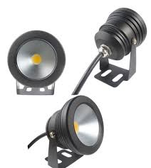 12 volt led lights waterproof wholesale outdoor black color case 10w underwater led flood wash