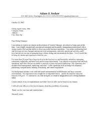 restaurant cover letter sample professional resume cover letter
