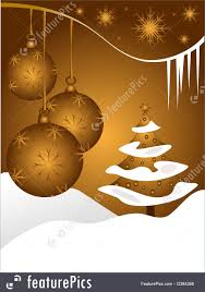 abstract gold baubles background