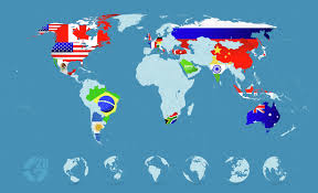 Detailed World Map Country Flags On Detailed World Map By Pomogayev Graphicriver