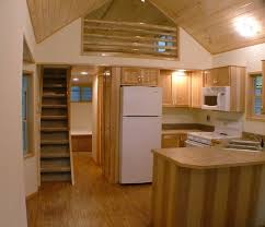 spacious park model tiny cabin on wheels by rpc