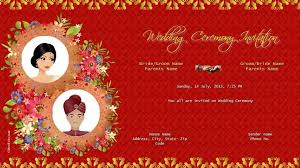 indian wedding invitation designs indian wedding ceremony invitation online indian creative design