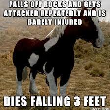 Meme Horse - scumbag skyrim horse meme on imgur