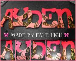 the cute mossy oak camo u0026 pink letters i made for aydens bedroom