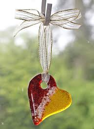 light catcher pet memorial fused glass ornament