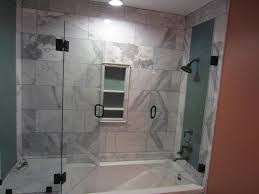 tub and shower frameless enclosure patriot glass and mirror