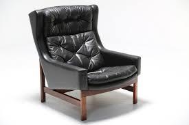 Danish Leather Armchair Danish Highback Leather Chair Mid Century Furniture The