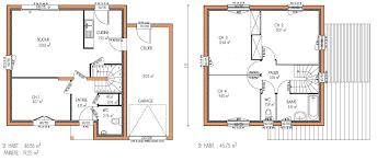 plan de maison 4 chambres maison etage 4 chambres