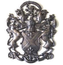 medieval wall decor metal art unicorn lion fleur de lis coat of