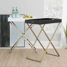 Gold Coffee Table Tray by Tall Butler Tray Stand West Elm