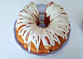 buttermilk pound cake with sweet cream glaze