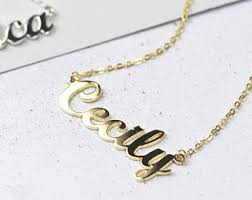 personalised necklaces name necklaces etsy