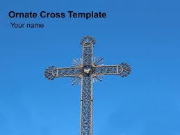ornate cross powerpoint template