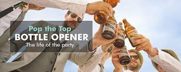 Pop A Top Bar Amazon Com Pop The Top Automatic Beer Bottle Opener Black