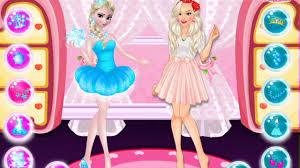 elsa barbie fashion show disney princess game cartoon