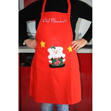tablier de cuisine personnalisé brodé tablier de cuisine pour noel brodé avec votre prénom cadeau noel