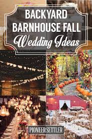 Backyard Fall Wedding Ideas Country Backyard Wedding Ideas Gogo Papa