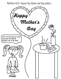 christian mothers day coloring pages getcoloringpages com