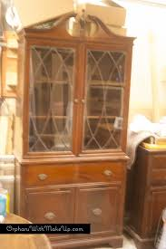 kitchen china cabinet china cabinet makeover from traditional to farmhouse hometalk