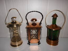 3 beautiful ornamental bottles with box in the bottom