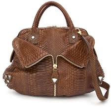 preowned sonia rykiel nut python top handle hobo bag your go to