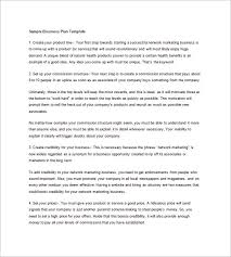 Free Business Plan Template Nz by Network Marketing Business Plan Pdf Pacq Co